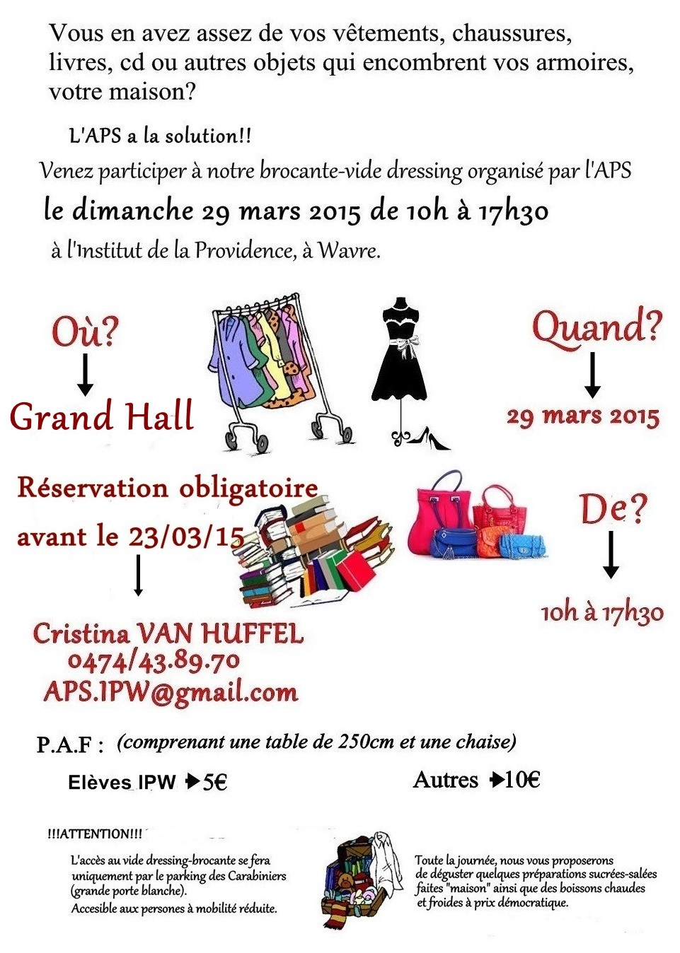 Vide dressing de l'APS édition 2015