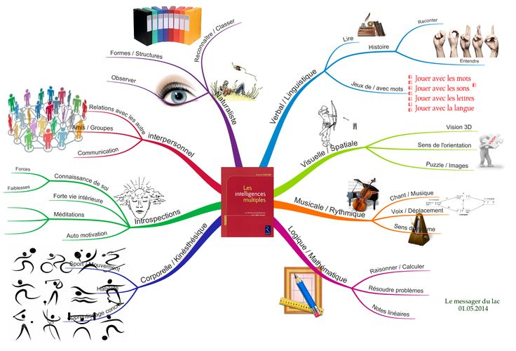 Intelligences multiples : Mind map